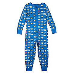 BBC Children In Need - Boy's blue 'Pudsey' printed onesie