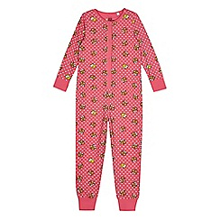 BBC Children In Need - Girl's pink 'Pudsey' print onesie