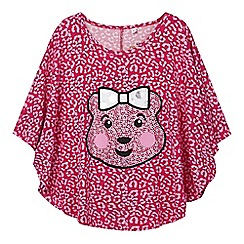 BBC Children In Need - Girl's pink 'Blush' leopard cape