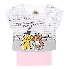 BBC Children In Need - Girl's pink pineapple t-shirt