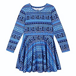 BBC Children In Need - Girl's navy 'Blush' aztec dress