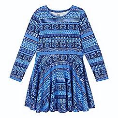 BBC Children In Need - Girl's navy 'Blush' aztec dress