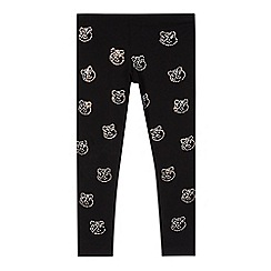 BBC Children In Need - Girl's black 'Pudsey' leggings