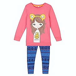 BBC Children In Need - Girl's pink 'Pudsey' girl tunic and leggings set