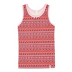Esprit - Girls' dark pink Nordic-inspired pyjama vest top