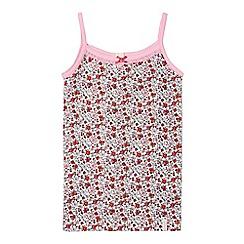 Esprit - Girls' pink floral pyjama vest top