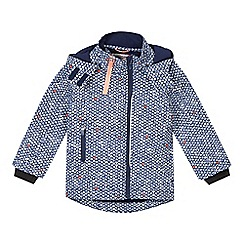 Esprit - Girl's navy print soft shell jacket