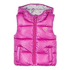 Esprit - Girl's dark pink padded gilet