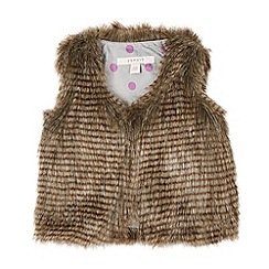 Esprit - Girl's brown faux fur gilet