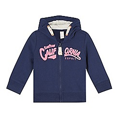 Esprit - Babies navy 'California' zipped hoodie