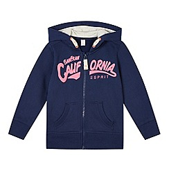 Esprit - Girl's navy 'California' zipped hoodie
