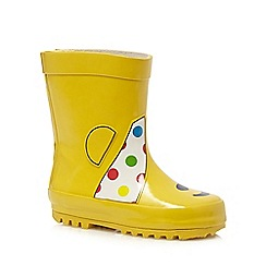 BBC Children In Need - Kids' yellow 'Pudsey' wellington boots
