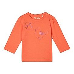 Esprit - Babies coral glittery bird top