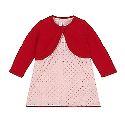 Esprit - Babies coral dress and cardigan set