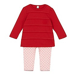 Esprit - Babies red top and legging set