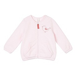 Esprit - Babies light pink bird print zipped sweat top
