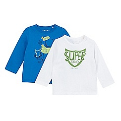 Esprit - Pack of two babies white dinosaur t-shirts