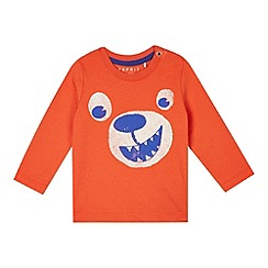 Esprit - Babies orange baby bear face printed top