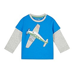 Esprit - Babies bright blue aeroplane t-shirt