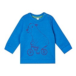 Esprit - Babies blue bear on bike sweatshirt