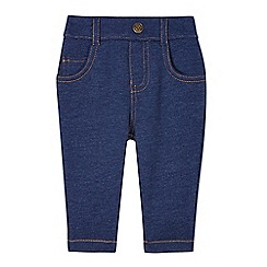 Esprit - Babies navy mock denim jogging bottoms