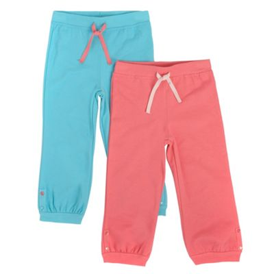 Girls Pack Of Two Jogging Bottoms