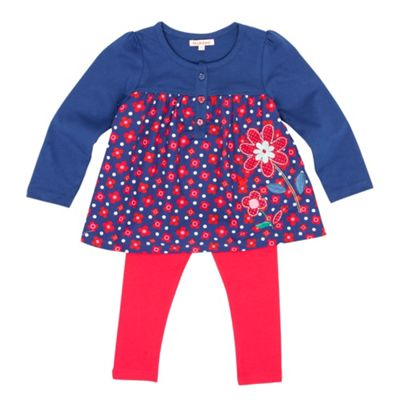 Girls Blue Tunic And Leggings