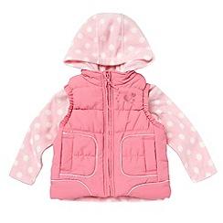 bluezoo - Girl's pink gilet and hooded fleece