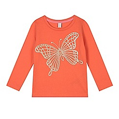 Esprit - Girl's coral butterfly t-shirt