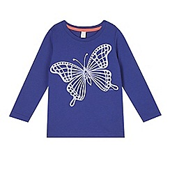 Esprit - Girl's blue butterfly t-shirt
