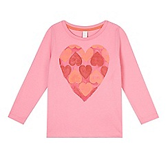 Esprit - Girl's pink heart t-shirt