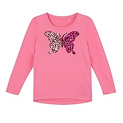 Esprit - Girl's pink sequin butterfly top