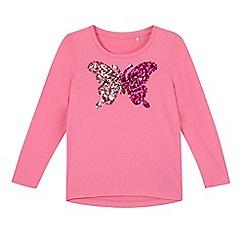 Esprit - Girl's pink sequin butterfly top