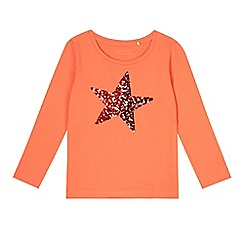 Esprit - Girl's coral sequin star t-shirt