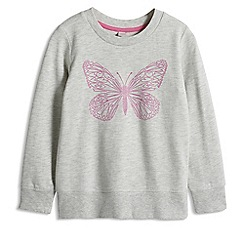 Esprit - Girl's grey butterfly sweatshirt