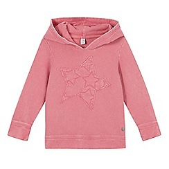 Esprit - Girl's pink applique star hoodie