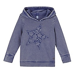 Esprit - Girl's blue applique star hoodie