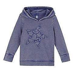 Esprit - Girl's blue applique star hoodie