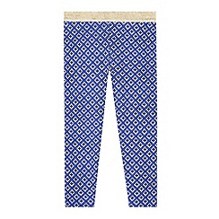 Esprit - Girl's blue geo printed leggings