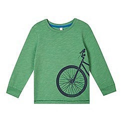 Esprit - Boy's green bicycle print top