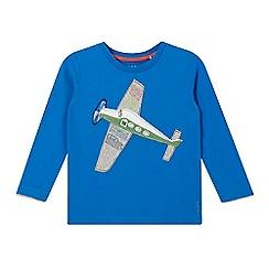 Esprit - Boy's bright blue plane applique long sleeved top