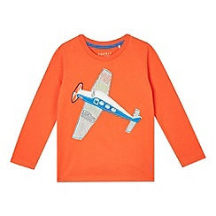 Esprit - Boy's orange plane applique top