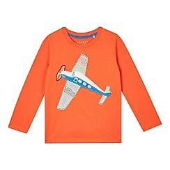 Esprit - Boy's orange plane applique top