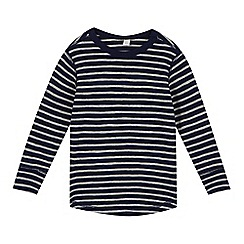 Esprit - Boy's navy striped waffle sweat top