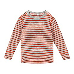 Esprit - Boy's orange striped waffle sweat top