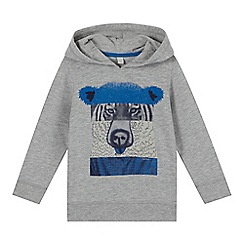 Esprit - Boy's grey animal collage print hoodie