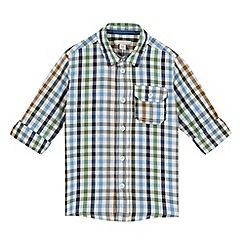Esprit - Boy's bright blue checked shirt