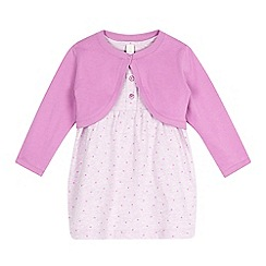 Esprit - Baby girls' pink dress and cardigan set