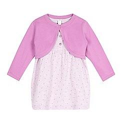 Esprit - Baby girls' pink dress and cardigan set