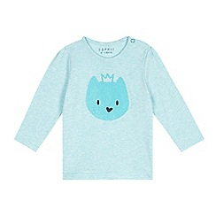 Esprit - Baby girls' blue princess cat t-shirt